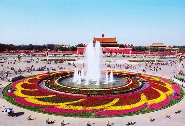 2002天安门广场国庆花坛