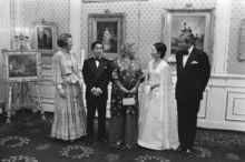 1979年访问荷兰时会见荷兰王室成员