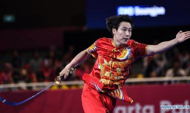 In pics: Daoshu competition of Men's Daoshu & Gunshu All-Round match at 18th Asian Games