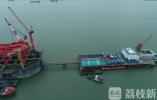 常泰长江大桥钢沉井首次取土下沉