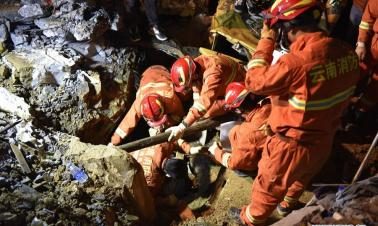 4 killed in SW China landslide
