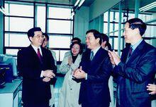 2003年春节胡锦涛总书记参观电报大楼
