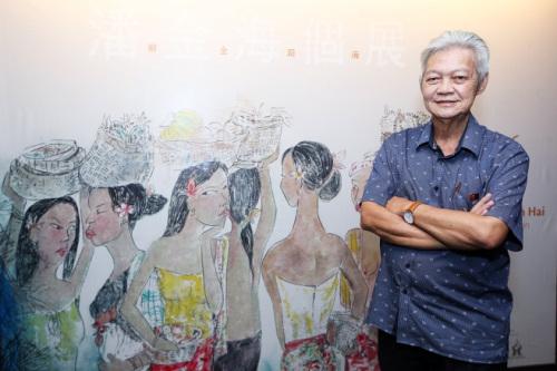 """大马华裔画家潘金海:结合蜡染水墨自创""""南洋风"""""""