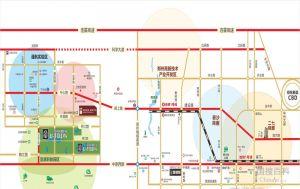 郑西联盟新城周边交通状况图