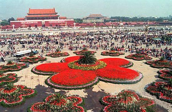 1987天安门广场国庆花坛