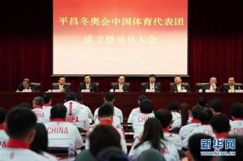 中国代表团成立