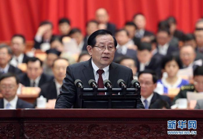 3月3日,中国人民政治协商会议第十三届全国委员会第一次会议在北京人民大会堂开幕。受政协第十二届全国委员会常务委员会委托,万钢向大会报告十二届政协的提案工作情况。
