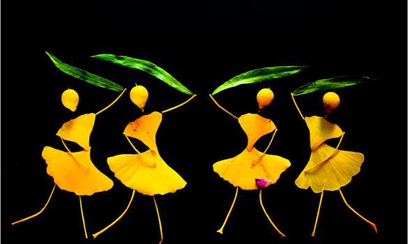Teacher's joy is making 'dancing' leaves