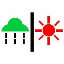天气预报标识:雨转晴