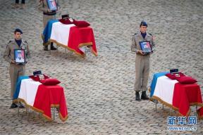 法国为马里军事行动身亡军人举行悼念仪式