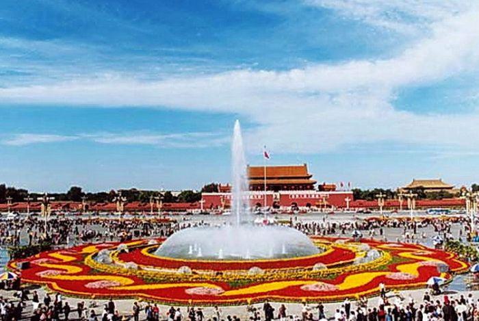 2001天安门广场国庆花坛