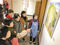 浙江松阳县举办山村艺术展