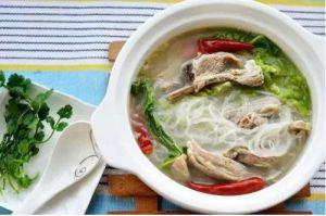 羊排白菜粉丝汤