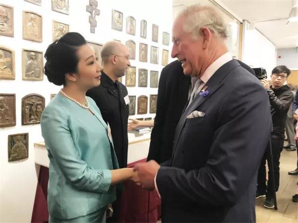 查尔斯王子与永新华韵张坤兰总裁亲切交流