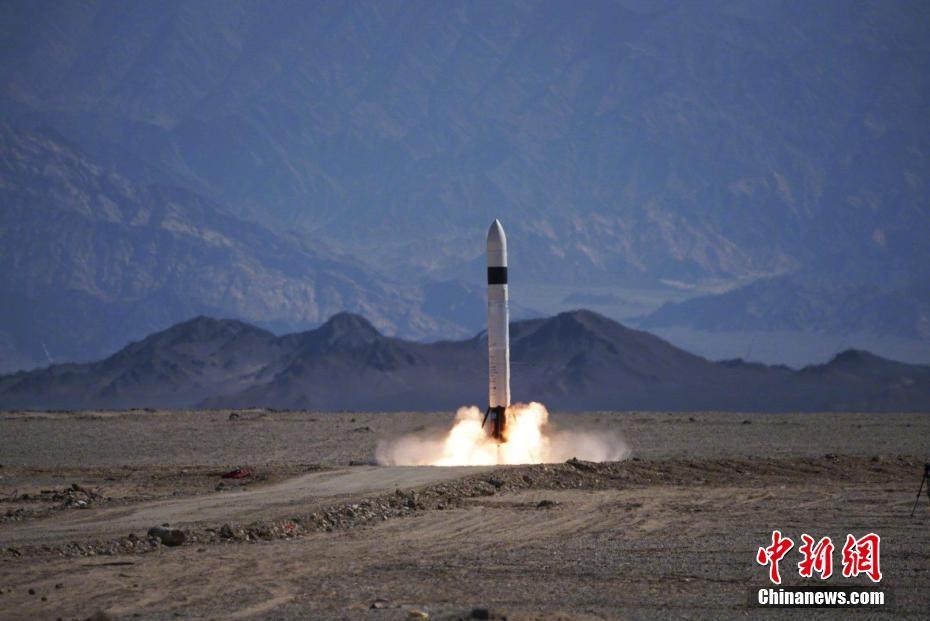 """中国民营可回收火箭完成""""三连跳"""" 飞行高度300米"""