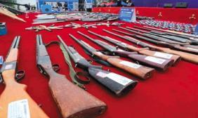 全国146城市统一销毁各类非法枪支