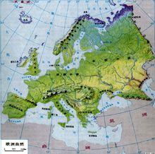 东欧平原的地形图