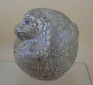 宋绞胎瓷猴子