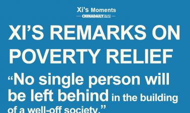 Infographic: Xi's remarks on poverty relief