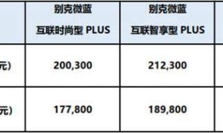 纯电动MAV别克微蓝410KM版上市 综合补贴后售价17.78万