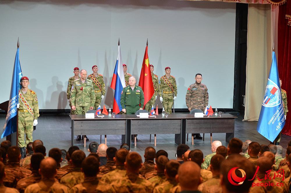 """中俄""""合作-2019""""联合反恐演练在新西伯利亚举行"""